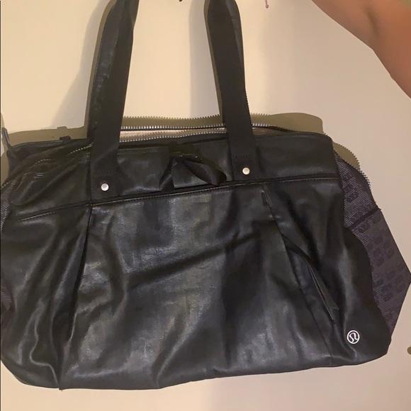 lululemon athletica Handbags - Lululemon Leather Duffle bag